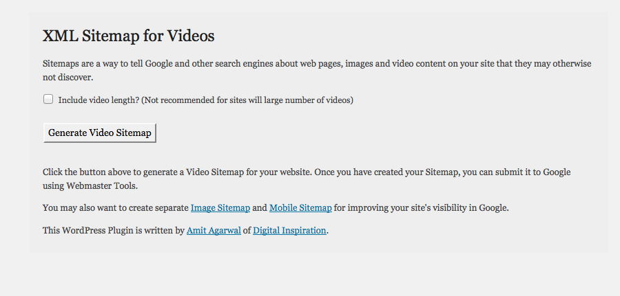 Google XML Sitemaps for Video
